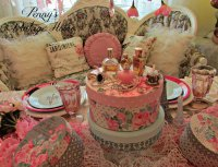 Vintage Hat Boxes, Perfume and Jewelry Luncheon