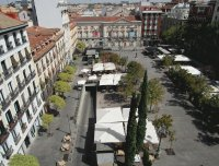Plaza in Madrid, Spain