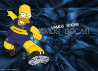 Homero Simpsons hincha de Boca Juniors
