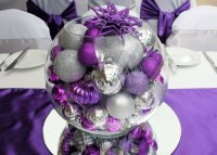 Purple and Silver Christmas Centerpiece