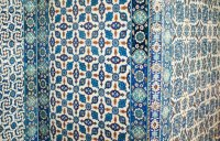 Tiles on Mosque walls
