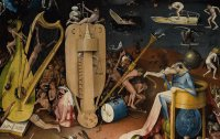 Hieronymus Bosch,Garden of Earthly Delights Detail