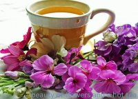 Beauty of Flowers and a Hot Tea-YUMMY!