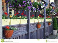 Restaurant Patio with Gorgeous Flowers