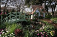 Beautiful Landscaping to Garden Play House