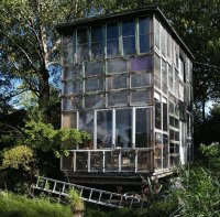 Glass House in Freetown Christiana Norway