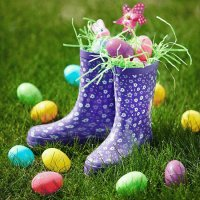 Easter Treats in Rain Boots-Cute!