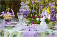Pretty Lavender Easter Brunch Table