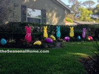 Easter Garden of Peeps and Eggs