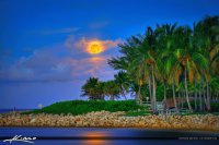 Blue Moon Rise-Jupiter, FL