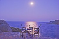 Ouzo and Bouzouki Under Full Moon-Greece