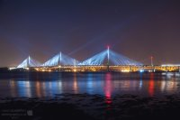 Queensferry Crossing at night