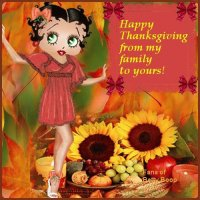 Happy Thanksgiving- Betty Boop Style
