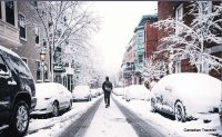 NYC Street in winter