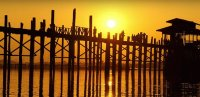U Bein Bridge  Dusk 1850 Teakwood