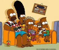 simpsons afro