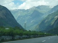 Travel on the highway in Switzerland