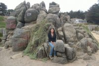 Gise on the rock's