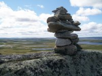 Inukshuk on the Gaff Topsails, Newfoundland