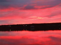 Colourful sunset over the Miramichi