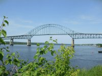 Summer at the Centennial Bridge, Miramichi
