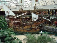 pirate ship at edmonton mall