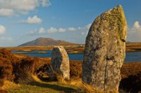 Pobull Fhinn stone circle, North Uist, Scotland