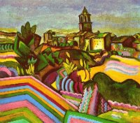 Joan-Miro-The-Village-of-Prades.